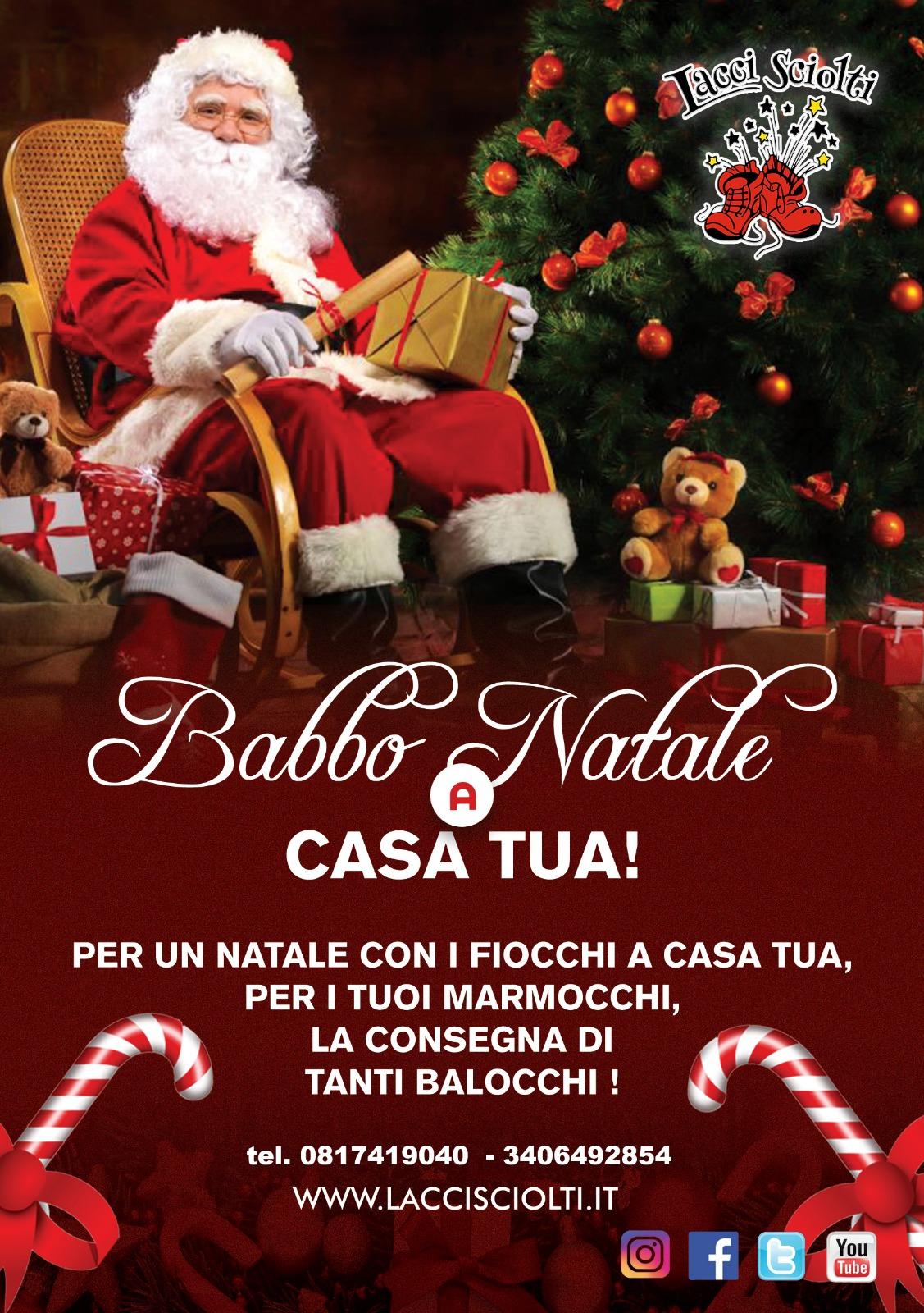 Babbo Natale a casa tua! Babbo Natale a domicilio a Napoli