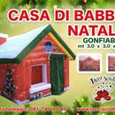 casetta gonfiabile Babbo Natale